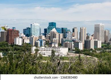 Edmonton city skyline, Alberta, Canada