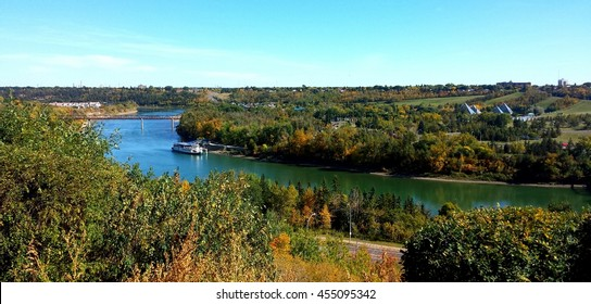 Edmonton River Valley with Ferry