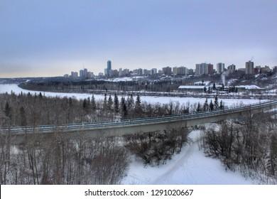 Edmonton Winter River Valley