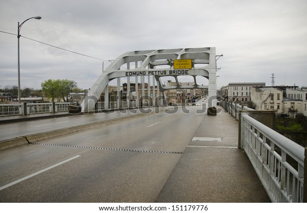 Edmund Pettus Bridge, Selma, Alabama, site of Bloody Sunday on March 7, 1965, when armed officers attacked civil rights demonstrators attempting to march to Montgomery.