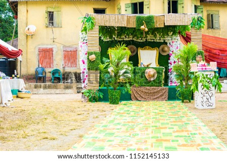 Edo Tribe Traditional Wedding Decoration Nigeria Stock Photo Edit