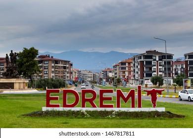 Edremit, Balikesir / Turkey - July 14 2019: Edremit district