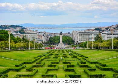 Eduardo VII park and gardens in Lisbon, Portugal