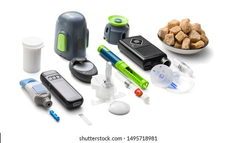 Education about equipment you need to control diabetes: insulin pump, glucose meter, insulin pen, sugar (for low blood sugar), counting carbohydrates, blood glucose sensor (for continuous monitoring)