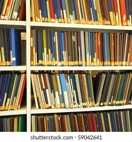 education books in a library showing school or university concept