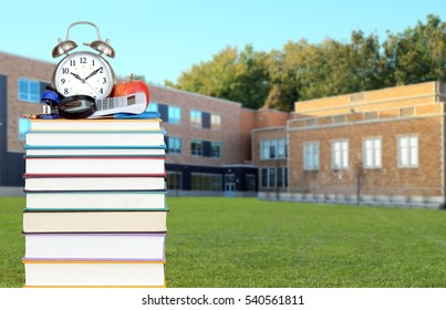 An education concept with book and blurry background