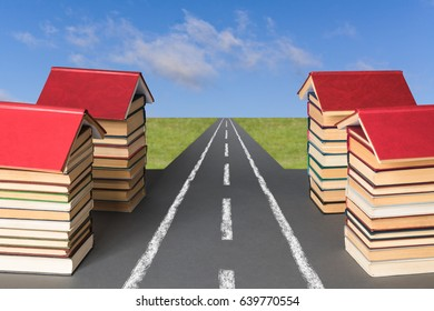 Education concept. Books as a basis for perspectives of development