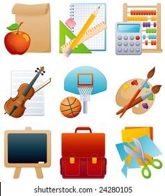 education icon set - raster version