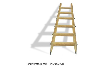 education school pencils ladder shadow white background space for your text
