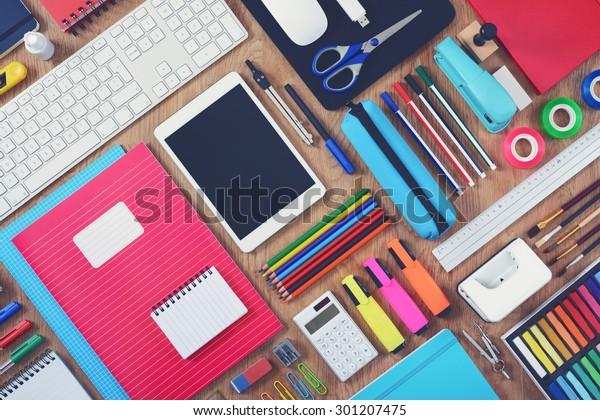 Education or school tablet mockup background