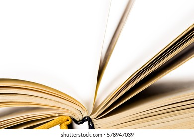 Education and wisdom concept - Macro view of book pages