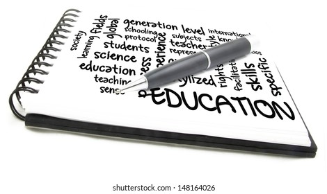 education word cloud notes