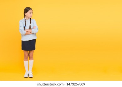 Educational activity. Homeschooling or visiting regular school. Efficiency of studying. Adorable schoolgirl. Diligent schoolgirl. Schoolgirl calm serious pupil long hair. Beginning of academic year.