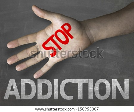 Educational Creative Composition Message Stop Addiction
