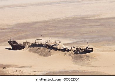 Edward Bohlen shipwreck on Namib desert, Skeleton Coast, Africa, Namibia.