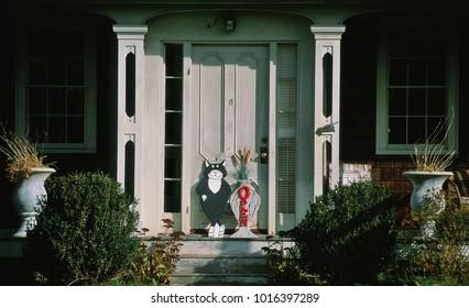 The Edward Gorey House Front Door, Yarmouthport, MA. / USA -  11/26/2011