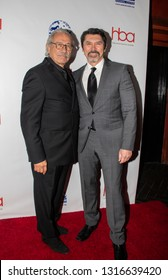 Edward James Olmos and Lou Diamond Phillips arrive at the 2019 Hollywood Beauty Awards at Avalon Hollywood in Los Angeles, CA on February 17, 2019.