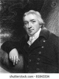 Edward Jenner (1749-1823). Engraved by E.Scriven and published in The Gallery Of Portraits With Memoirs encyclopedia, United Kingdom, 1837.