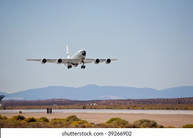 EDWARDS AFB, CA - OCT 17: Boeing KC-135 Stratotanker takes off at Flight Test Nation 2009, October 17, 2009, Edwards Air Force Base, CA