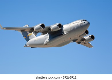 EDWARDS AFB, CA - OCT 17: Boeing C-17 Globemaster performs at Flight Test Nation 2009, October 17, 2009, Edwards Air Force Base, CA