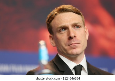 Edwin Thomas poses at the 'The Happy Prince' press conference  during the 68th Berlinale International Film Festival Berlin at Grand Hyatt Hotel on February 17, 2018 in Berlin, Germany.