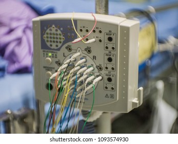 EEG or Electroencephalography hardware equipment in clinic.