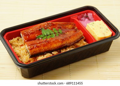 Eel, Japanese food, Eel bento,