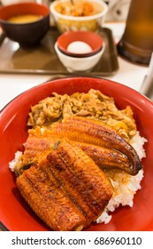 eel rice bowl with pork, Japanese famous food