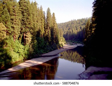 Eel River through the Redwood Forest, California
