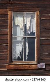 Eerie window in Ghost town (Bodie)