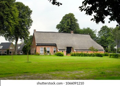 Eext, drenthe, netherlands, 07-23-2015, historic farmhouse in the typical traditional style of this area
