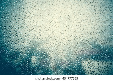 effect from raindrop make vapor on the window