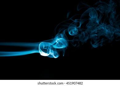 effect smoke color blue black screen