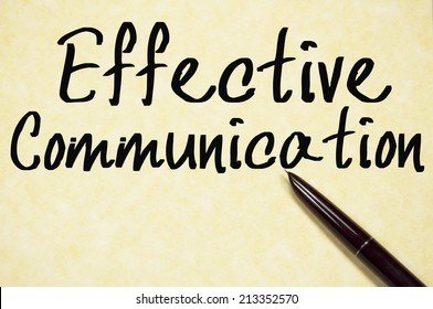 effective communication text write on paper