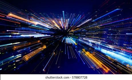 Effects blast zooming; Bird's-eye view