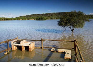 The effects of a flood in the Freestate Province, South Africa