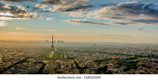 Effel Tower and City Paris in the sunset