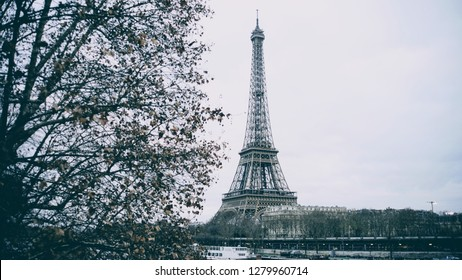 Effel tower in a melancholic day in Paris