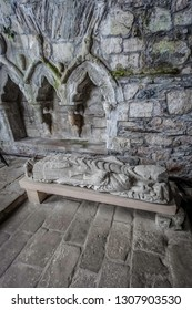 Effigy of Abbot Dominic in Iona Abbey