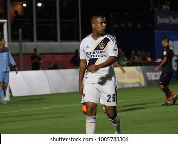 Efrain Alvarez  midfielder for LA Galaxy FC at Phoenix Rising Soccer Complex in Tempe,Arizona May 4,2018.