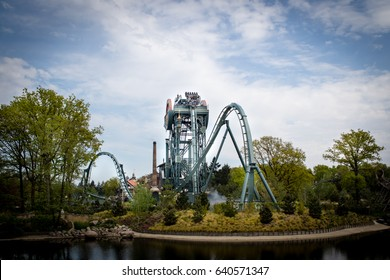 Efteling, Themepark in The Netherlands, Baron 1898 ride, 11 May 2017