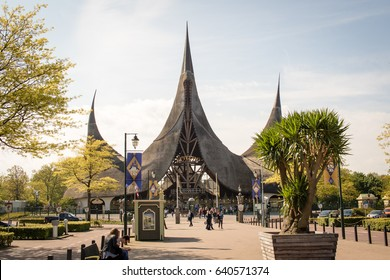Efteling, Themepark in The Netherlands, entrance building, 11 May 2017