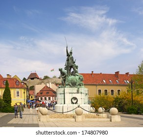 EGER, HUNGARY - APRIL 12: The historic center of the ancient city of Eger on April 12, 2009. Eger is the second largest city in Northern Hungary.