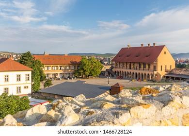 Eger, Hungary - July 24,2018 - Defense Castle in Eger