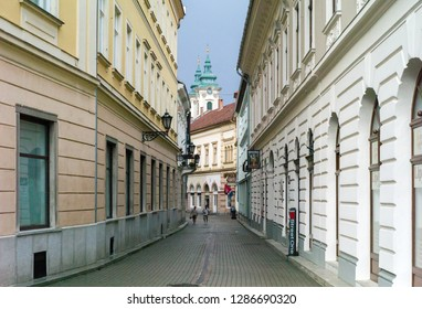 Eger, Hungary - July 26, 2017: View of Eger, Hungary