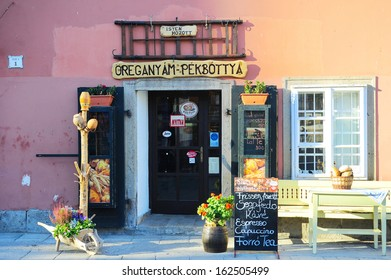 EGER, HUNGARY - OCTOBER 05: Old fashioned Hungarian coffe shop in the city center on October 05, 2013 in Eger, Hungary. Eger is the second largest city in Northern Hungary.