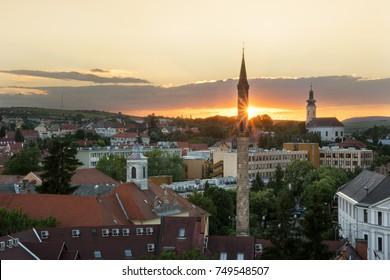 The Eger Minaret at sunset, Hungary