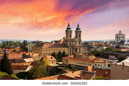 Eger sunset, Hungary