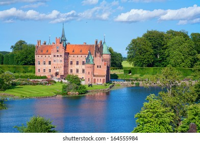 Egeskov castle; the most visited castle in Denmark with magnificent park.