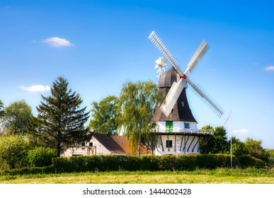 Egeskov Windmill on Funen Island, Denmark